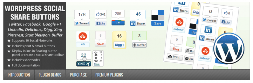 WordPress Social Share Buttons Preview - CodeCanyon