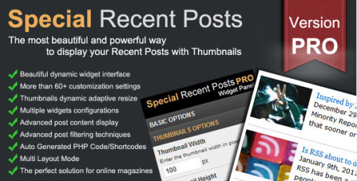 WordPress - Special Recent Posts PRO - CodeCanyon