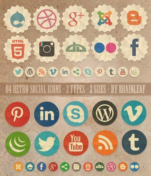 vintage-social-media-icons