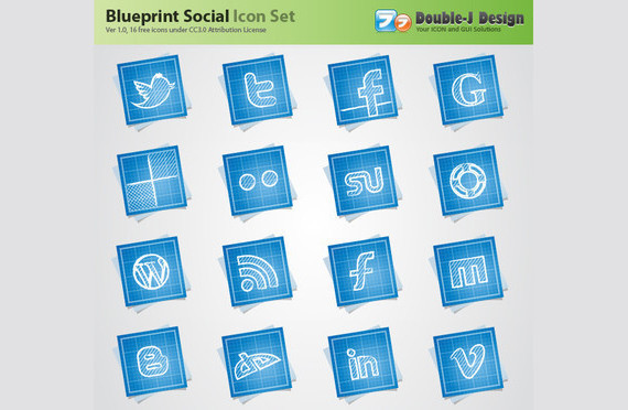 blue-print-social-media-icons
