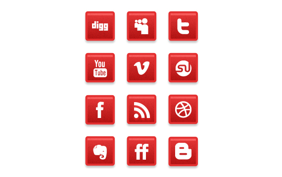 red-social-media-icons